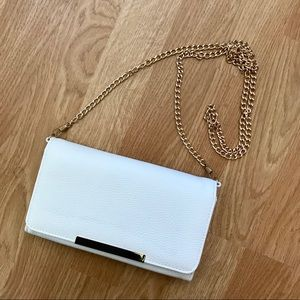 White clutch/ crossbody purse